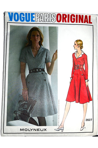 Molyneux Vogue Paris Original 2627 Vintage Sewing Pattern 1971