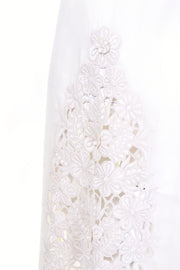 Guipure lace vintage 1970's white dress