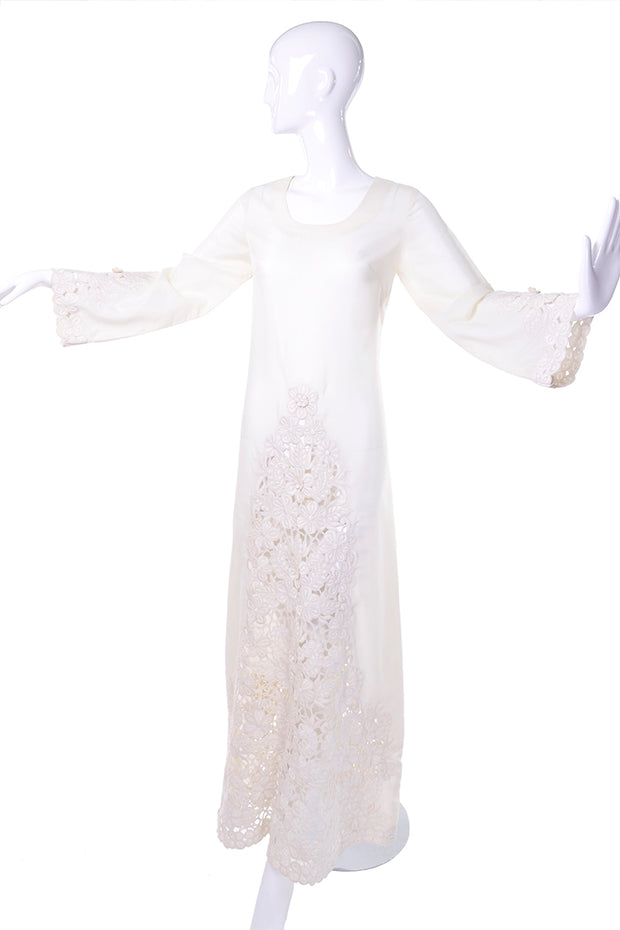 1970's boho wedding dress