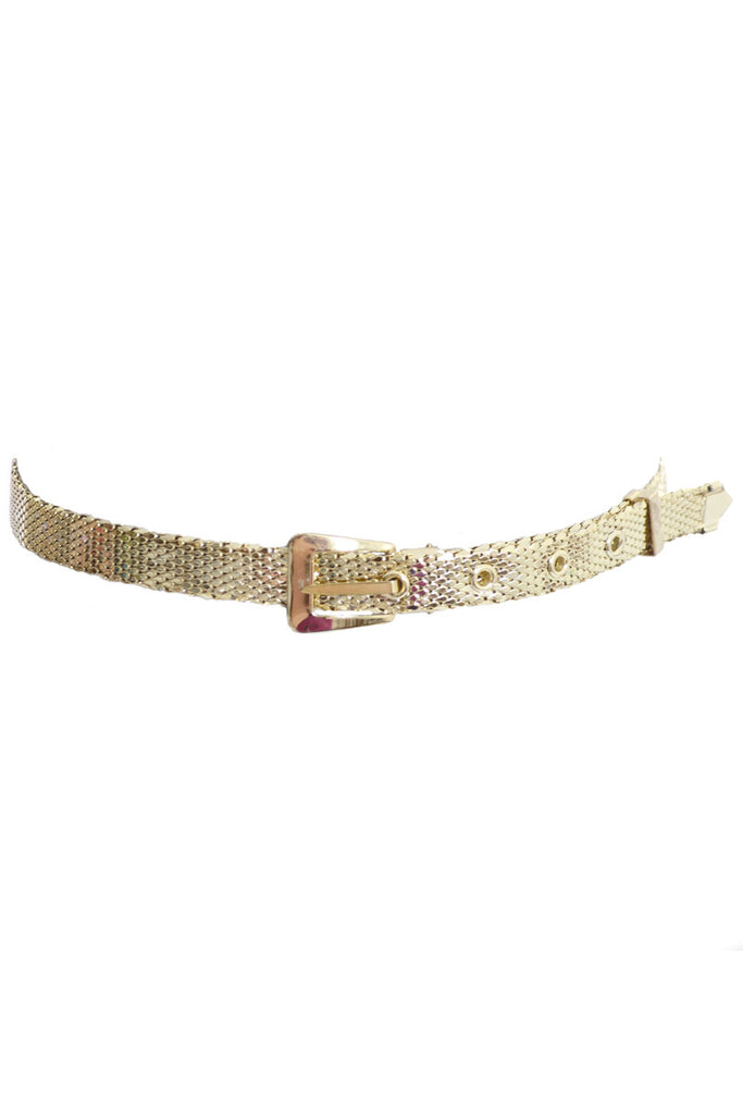 Whiting & David gold mesh vintage belt