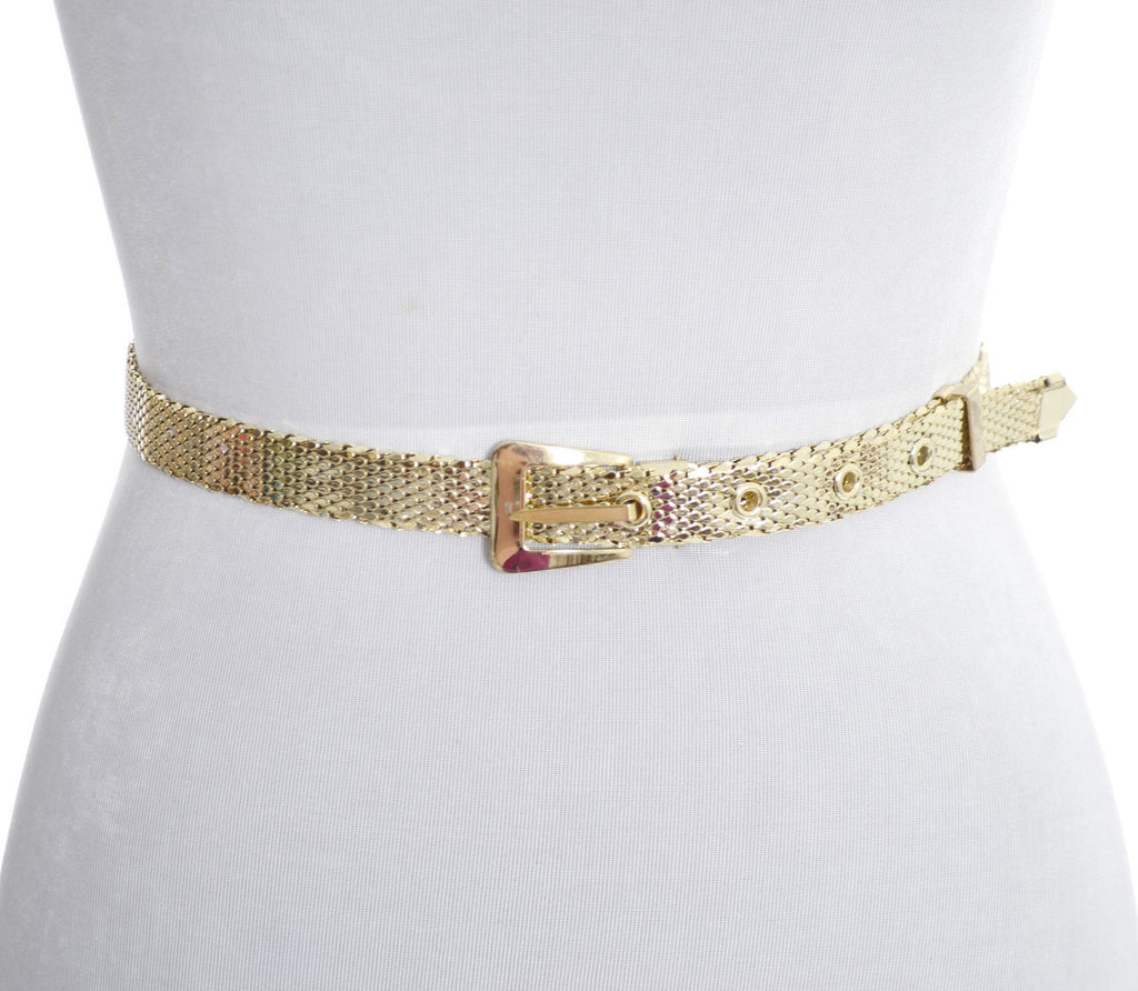 Whiting & Davis gold mesh vintage belt