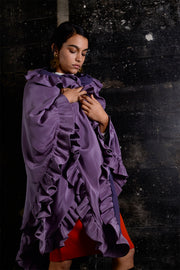 William Travilla 1970's Purple Cape