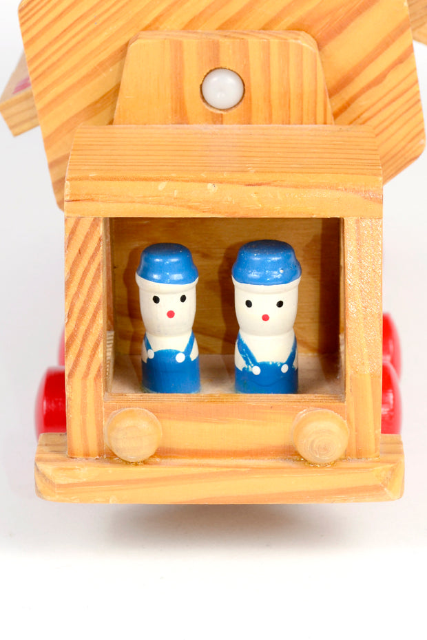 Vintage Japanese Wooden Alphabet Learning Truck