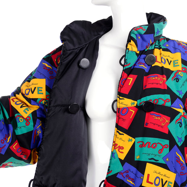 Yves Saint Laurent Love Card reversible puffer coat