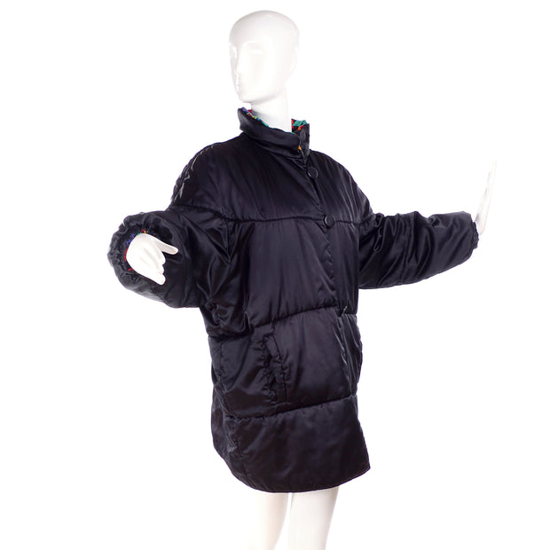 Yves Saint Laurent designer black puffy coat