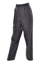 Pinstripe high waisted vintage Yves Saint Laurent Trousers