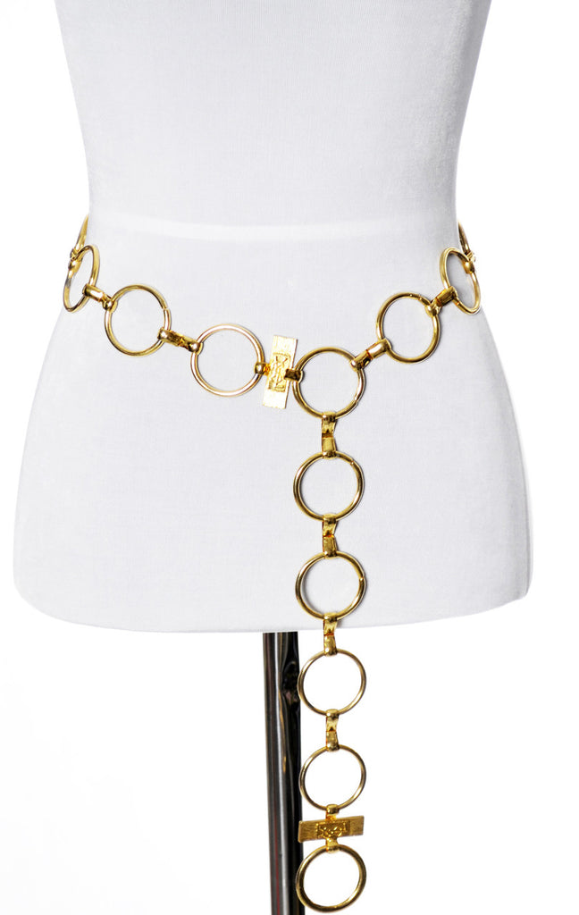 YSL vintage gold chain belt