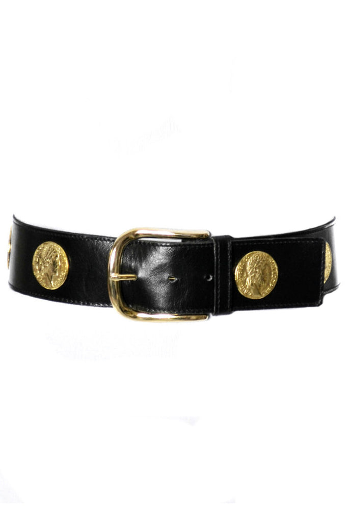 Yves Saint Laurent 1980s coin belt