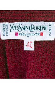 Yves Saint Laurent YSL Vintage Red Boucle Wool Skirt Rive Gauche