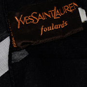 Foulards Yves Saint Laurent Foulards Silk Oversized Large Black Sheer Scarf or Shawl Wrap