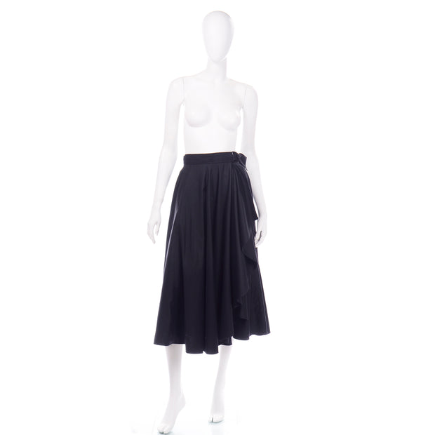Vintage YSL Yves Saint Laurent black skirt