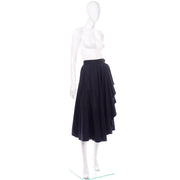 Vintage YSL Yves Saint Laurent faux wrap black skirt