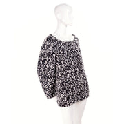 Yves Saint Laurent 2011 Runway Black and White Wool Tweed Sweater