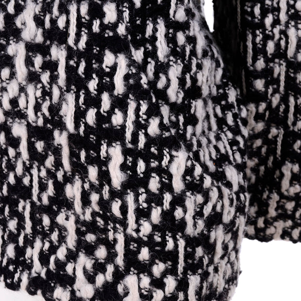 Chunky knit tweed sweater by YSL
