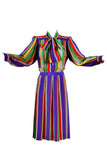 1982 Yves Saint Laurent Striped Dress