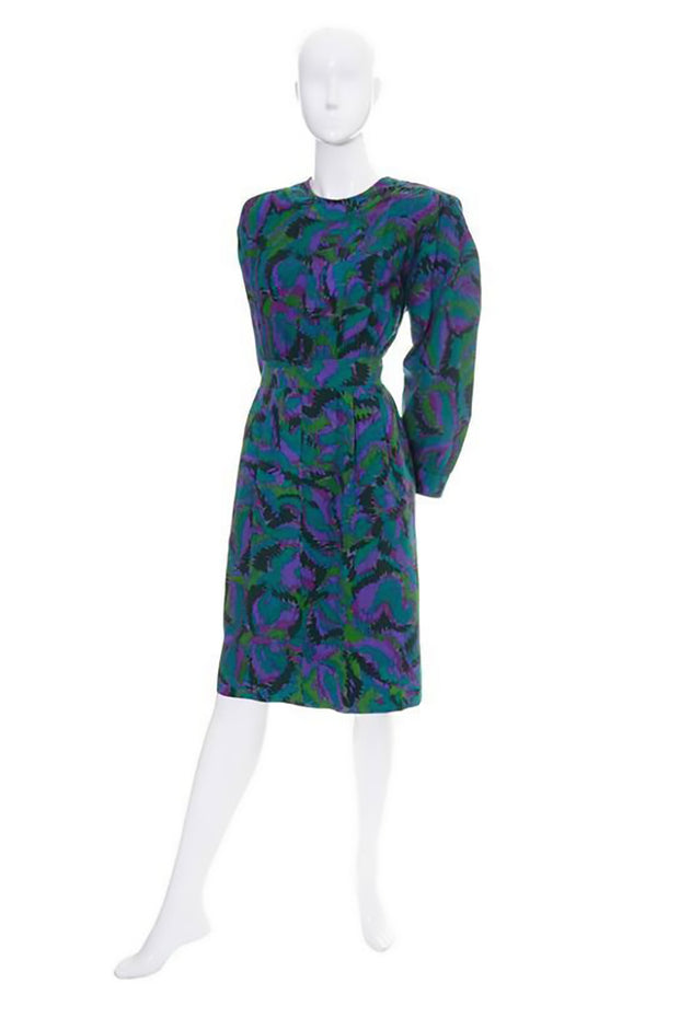 Yves Saint Laurent rive gauche 1980s vintage dress