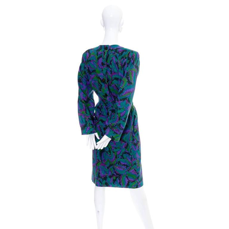Lightweight wool vintage YSL dress with an abstract design