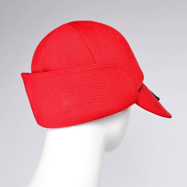 Yves Saint Laurent Bright Red Deerstalker Double Brim Women's Hat