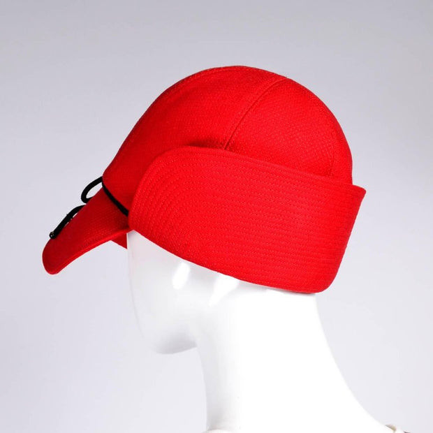 Retro Red Deerstalker Cap