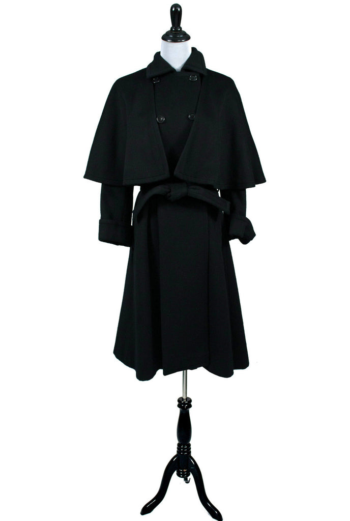 vintage Yves Saint Laurent black wool coat