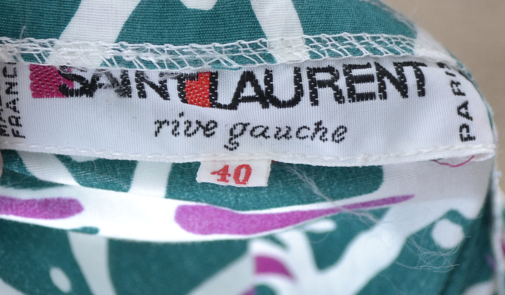 Yves Saint Laurent Rive Gauche vintage green skirt 1970s