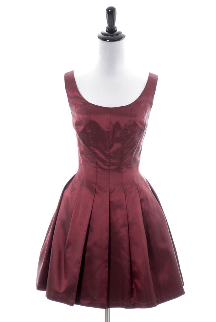 vintage oxblood red iridescent cocktail dress