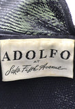 Vintage 1960s navy blue Adolfo hat Saks Fifth Avenue - Dressing Vintage