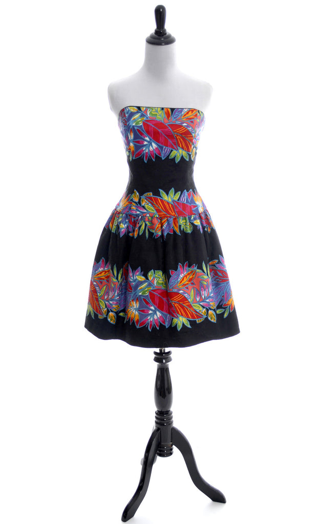 AJ Bari vintage strapless dress
