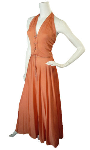 Albert Capraro vintage halter dress 1970s designer
