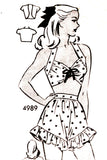 Anne Adams 4989 mail order vintage 1940s playsuit pattern