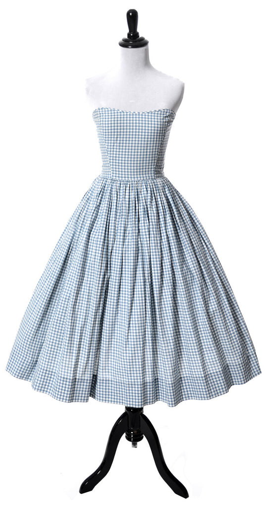 Strapless vintage 50s Anne Fogarty dress with bolero