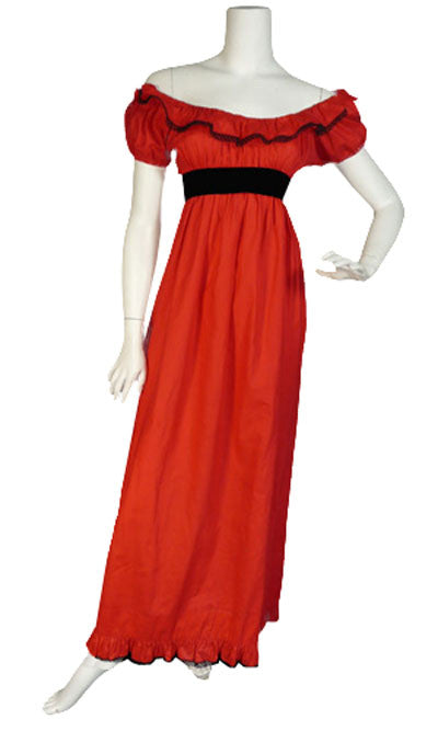 Anne Fogarty Red Vintage Dress with Matching Shawl - Dressing Vintage