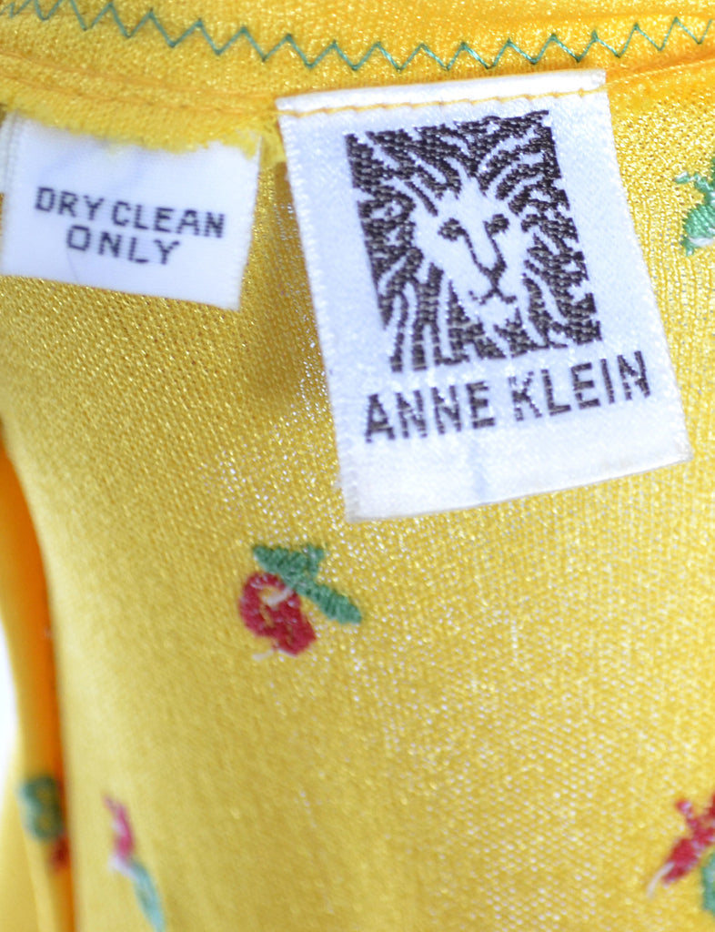 Anne Klein vintage yellow dress