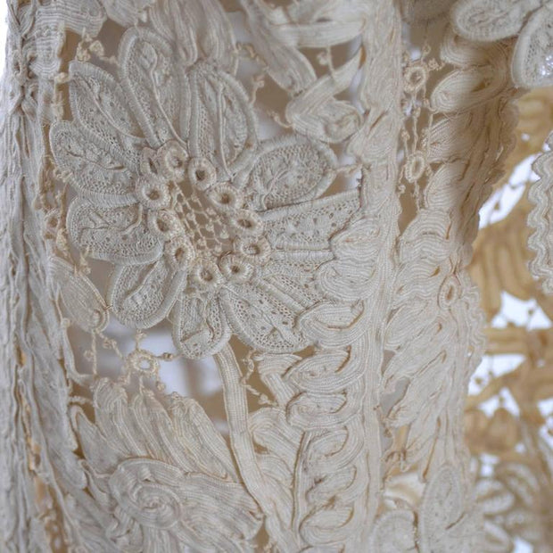 Lace Edwardian Waistcoat Vest or Jacket Vintage Battenburg Needle Mixed lace - Dressing Vintage