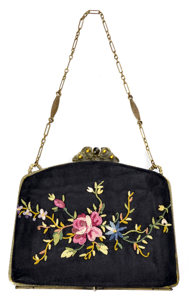 Antique Victorian embroidered purse