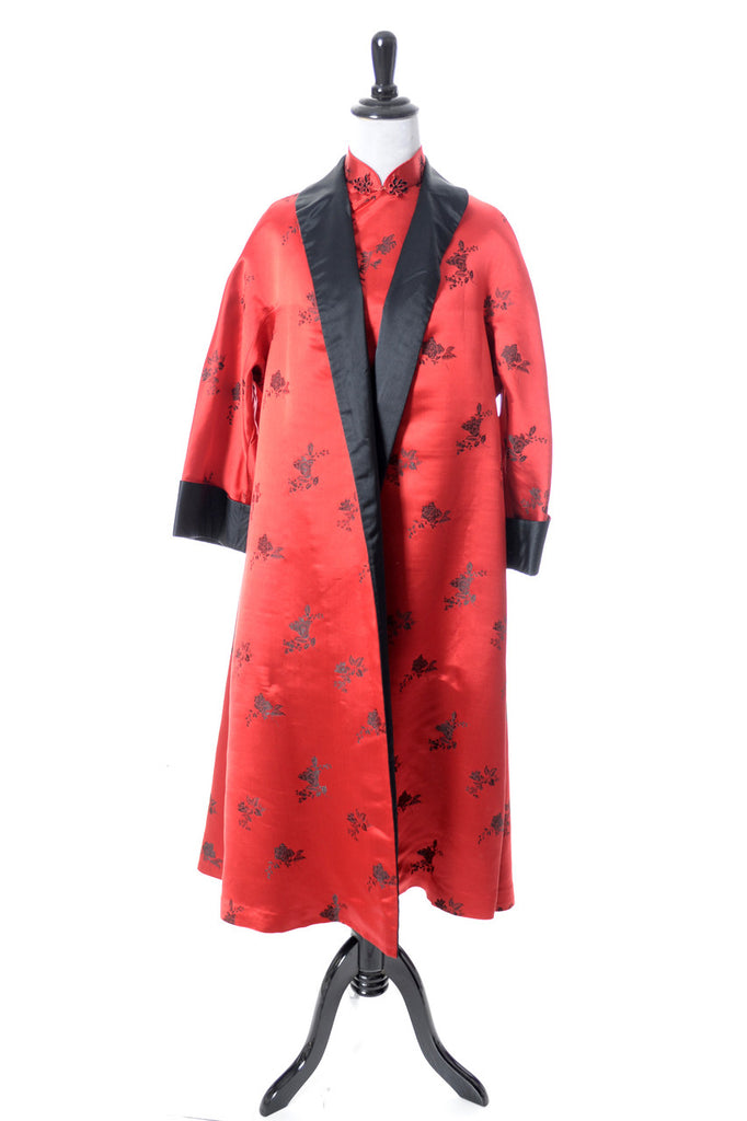 Vintage Red Cheongsam dress and coat