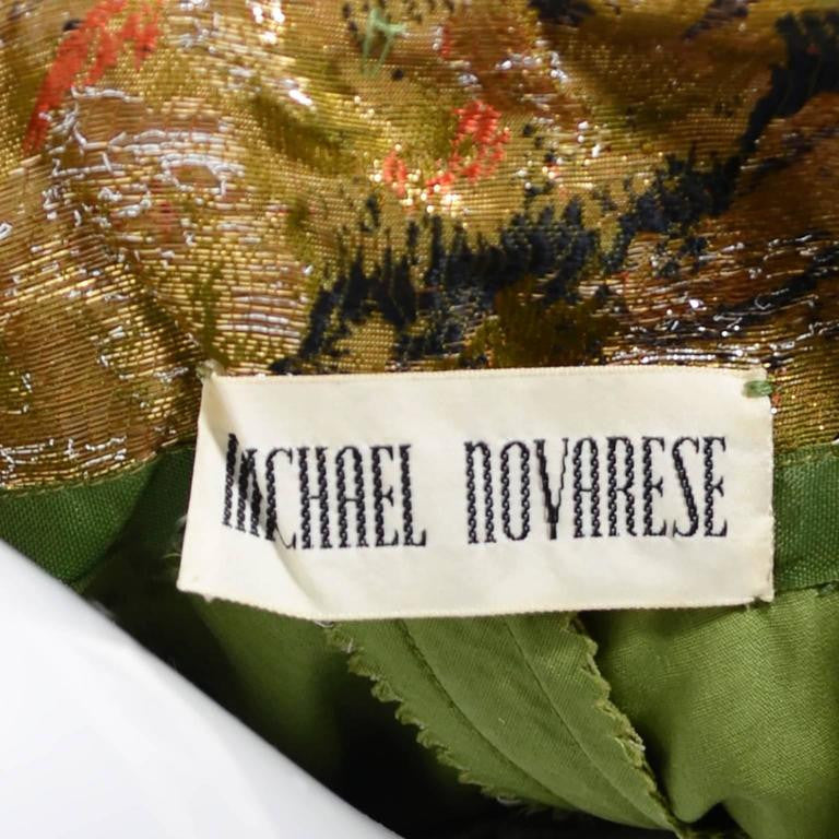 Gold Lame Michael Novarese vintage gold gown