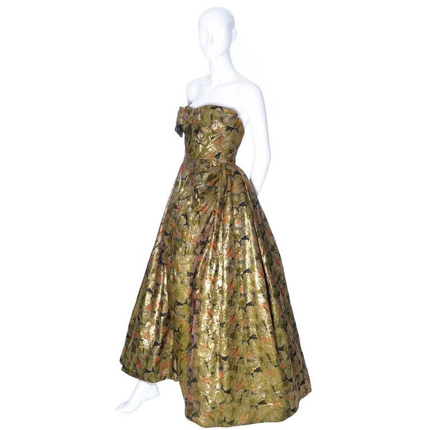 Audrey Hepburn Michael Novarese vintage gold dress