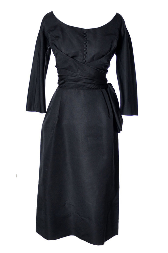 1950s Max Lawrence little black dress