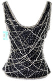 Riazee Boutique Beaded Vintage Top New With Tags Nordstrom Small - Dressing Vintage