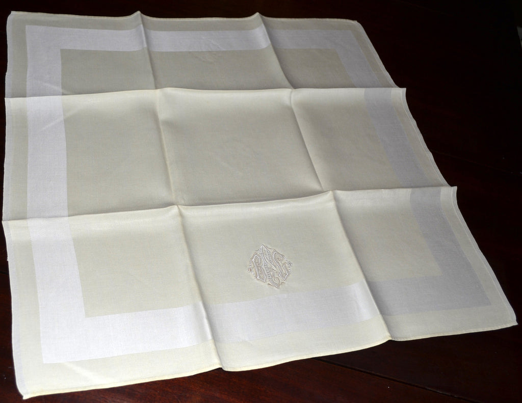 monogrammed vintage napkins antique monogram