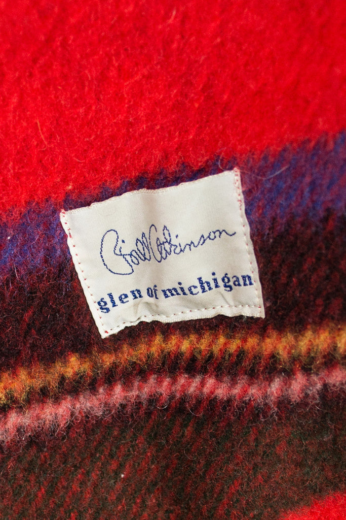 Vintage 1960s coat and scarf Red Plaid Bill Atkinson glen of Michigan SOLD - Dressing Vintage
