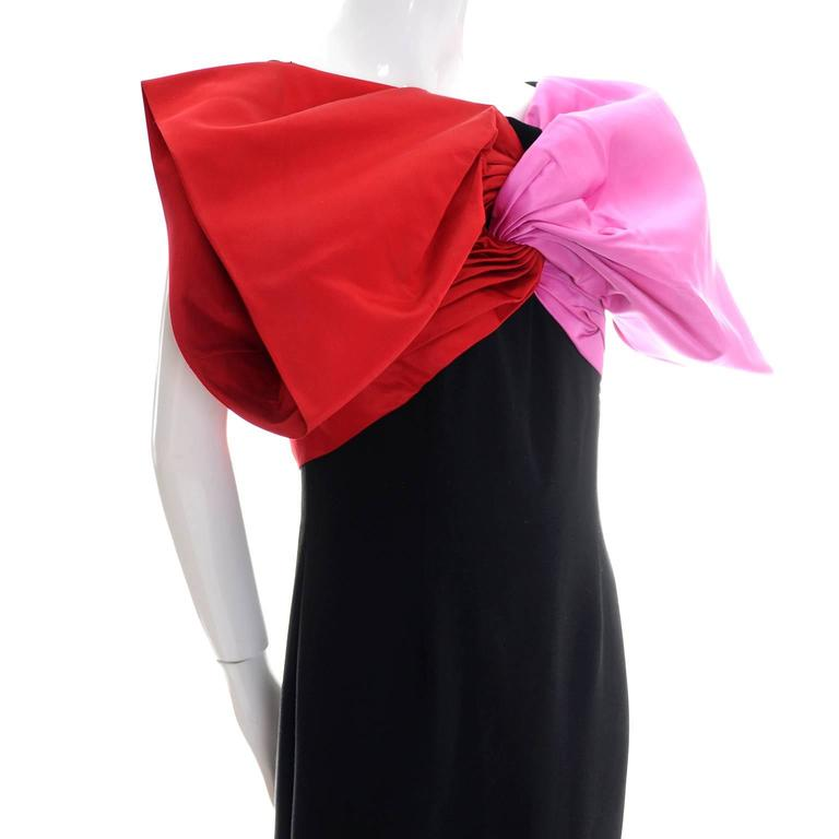Bill Blass Dramatic Red & Pink Bow from Dressing Vintage