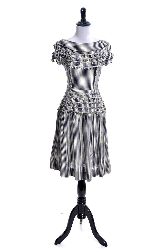 Vintage Vicky Vaughn gingham dress
