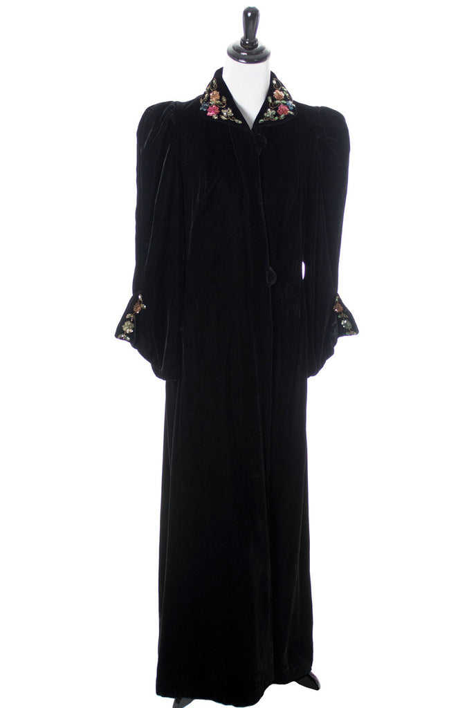 Full length vintage velvet opera coat