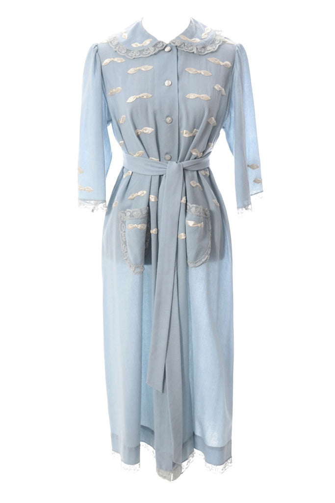 Vintage blue robe from I Magnin 1950s