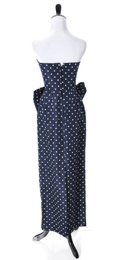 Vintage Victor Cost Dress Strapless polka dots - Dressing Vintage