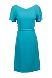 Pauline Trigere blue designer dress