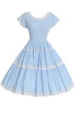 1950s blue patio dress