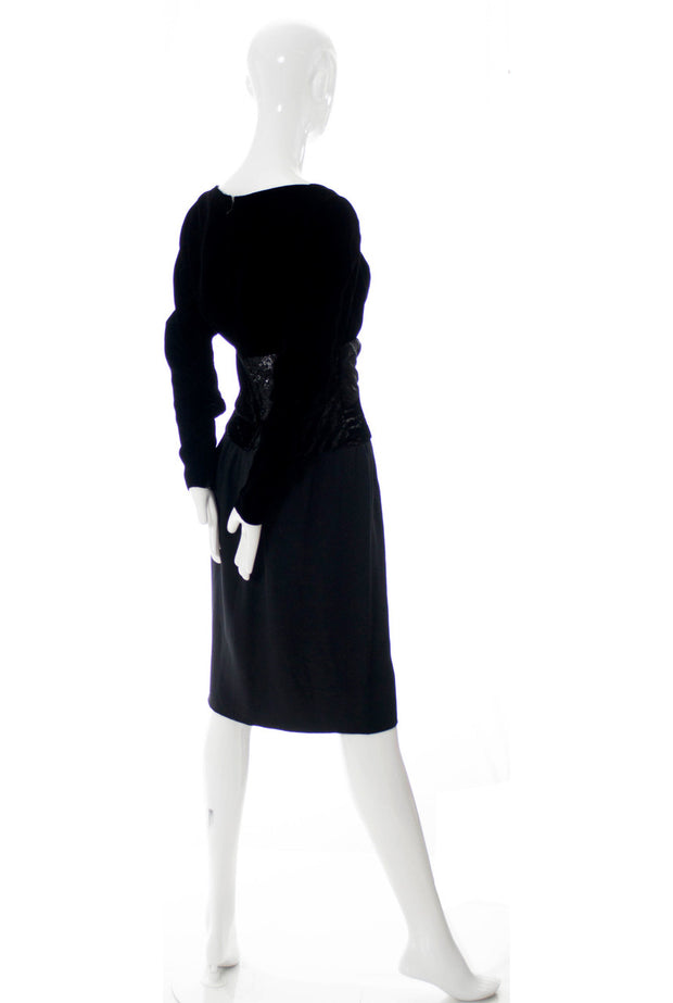 Designer Bob Mackie Black Vintage Dress - Dressing Vintage
